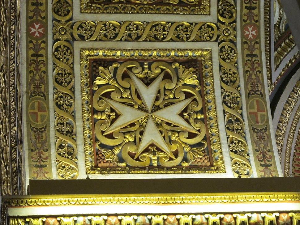 Detail in der St. John's Co-Cathedral, Valetta, Malta Nov 2014