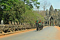 Devas line up opposite to Asuras in Angkor Thom Hindu temple complex.jpg