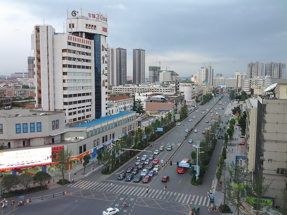 Deyang skyline