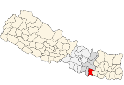 map of Dhanusa, Nepal