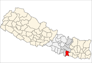 Dhanusa District - Image: Dhanusa district location