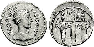 Diana Nemorensis - Image: Diana Nemorensis denarius 2