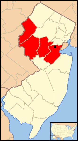Roman Catholic Diocese of Metuchen - Image: Diocese of Metuchen map 1
