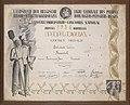 Diploma Houtmeyers, Onbekend, Bakkerijmuseum Veurne, Diploma, 12801.jpg
