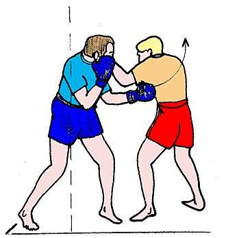 Short straight-punch - Short straight-punch in short range Burmese boxing