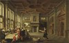 Distinguished Dinner Company in an Interior (Dirck van Deelen) - Nationalmuseum - 17393.tif