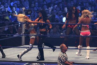 Maryse Ouellet - Maryse wrestling during the WrestleMania XXV event in April 2009