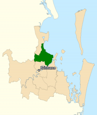 Division of Lilley - Division of Lilley in Queensland, as of the 2016 federal election.