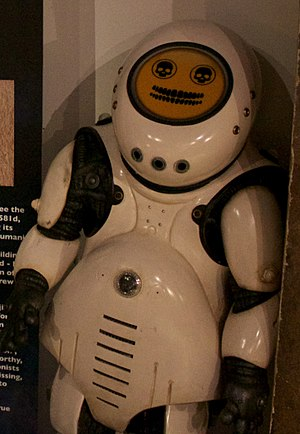 Smile (Doctor Who) - The Emojibots, on display at a Doctor Who exhibition.