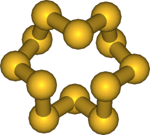 Allotropes of sulfur - Cyclo-dodecasulfur, cyclo-S12