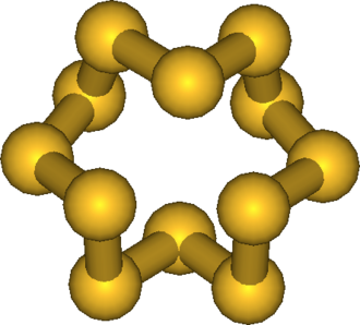Allotropes of sulfur - Cyclo-dodecasulfur, cyclo-S12