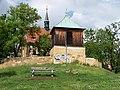 Dolní Chabry, kostel se zvonicí od jihu (01).jpg