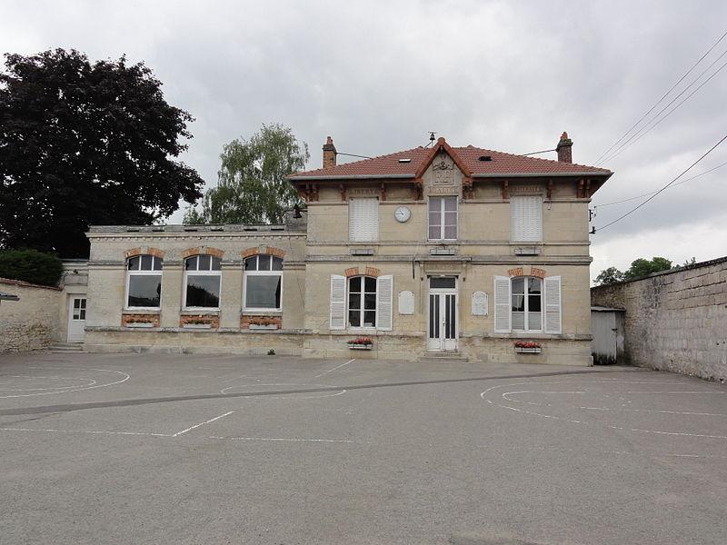 Dommiers (Aisne) mairie - école
