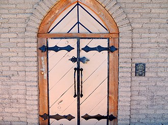 National Register of Historic Places listings in Grant County, New Mexico - Image: Door to La Capilla Chapel