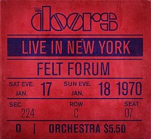Live in New York (The Doors live album) - Image: Doors newyork