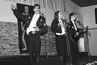 Doug Anthony All Stars - Tim Ferguson, Paul McDermott and Richard Fidler performing in Hobart, Tasmania, 1994