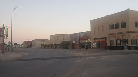 Downtown Anson South Of The Courthouse At Sunset
