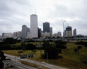 One Shell Plaza - Image: Downtown Houston 1971