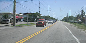 Layton, Florida - Layton, as seen from US 1 looking south along the road.