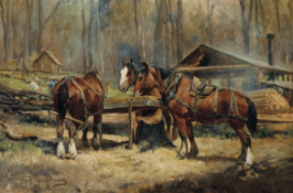 """Draught Horses Resting"""