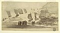 Drawing, Beach Scene with People and Fishing Boats, Cullercoats, England, 1881–82 (CH 18174779-2).jpg