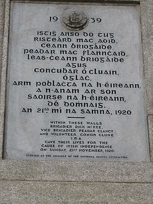 Dick McKee - Image: Dublin Castle 1920 IRA Memorial