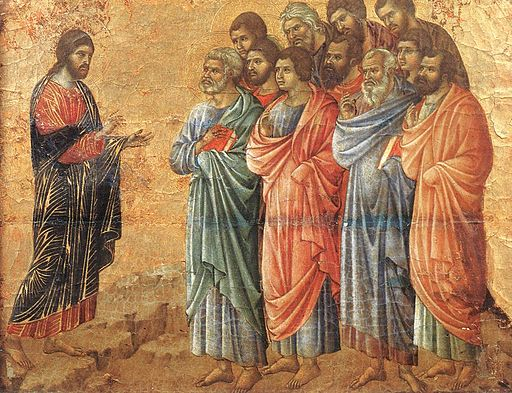 Duccio di Buoninsegna - Appearance on the Mountain in Galilee - WGA06737
