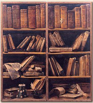 Museo internazionale e biblioteca della musica - Libreria. Autore:G.M.Crespi, c. 1720 – 1730. Collocazione: Museo internazionale e biblioteca della musica