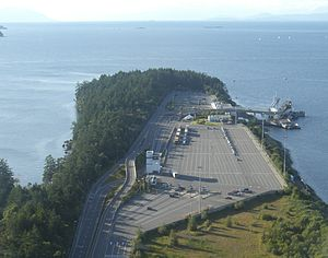 Duke Point ferry terminal - Aerial view of the Duke Point ferry terminal.