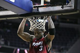 Dwyane Wade - Wade's pre-game ritual consists of doing pull-ups at the rim.
