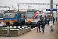 ER9 and EPg trains at Minsk-Passenger railway station.jpg