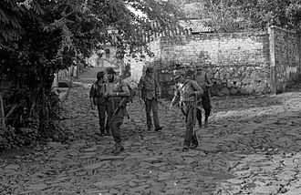 Truth Commission for El Salvador - Guerrilla combatants in Perquín, El Salvador in 1990.