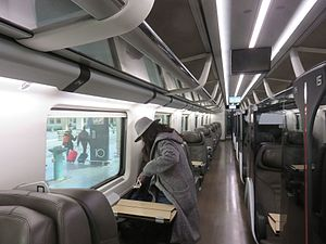 Frecciarossa - Interior of ETR 500 Business Class   (Feb 2017)