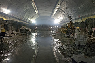East Side Access - Completed arch in one of the two caverns under Grand Central in January 2012, prior to further excavation.