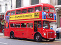 East London Routemaster RM1968 (ALD 968B) 7 August 2006 heritage route 15 Ludgate Hill cropped.jpg