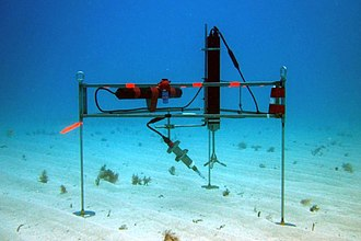 Eddy covariance - An eddy correlation instrument measuring oxygen fluxes in benthic environments.