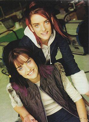Edele Lynch - Edele with her twin sister Keavy in 1998