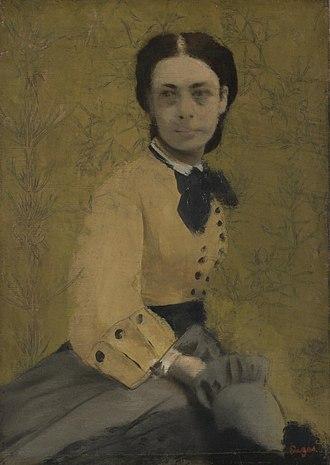 Pauline von Metternich - Princess Pauline, portrait by Edgar Degas, around 1865