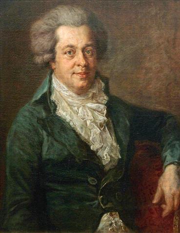 Возможно, самый последний прижизненный портрет Моцарта, написанный в 1790 году в Мюнхене. Художник Иоганн Георг Эдлингер