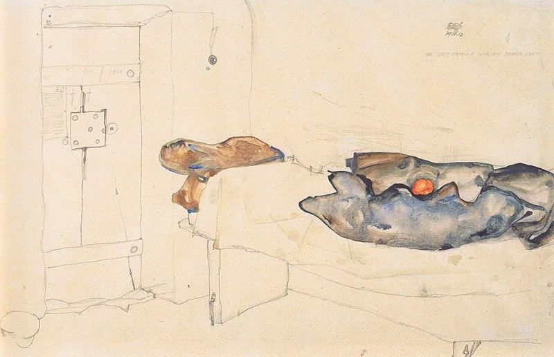 File:Egon Schiele - Die eine Orange war das einzige Licht19-4-1912.jpeg