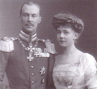 Princess Agatha of Hohenlohe-Schillingsfürst - Agatha and her husband, Prince Friedrich Wilhelm of Prussia