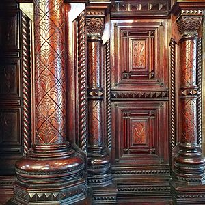 Eldridge Street Synagogue - Image: Eldridge Synagogue Altar Design Detail