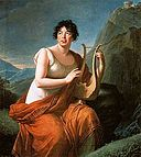Elisabeth Vigée-Lebrun - Portrait of Madame de Staël as Corinne on Cape Misenum - WGA25074.jpg