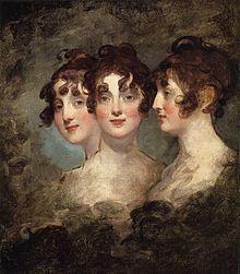 Elizabeth Patterson Bonaparte, triple portrait by Gilbert Stuart, 1804 (Source: Wikimedia)
