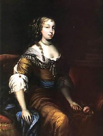 John Wilmot, 2nd Earl of Rochester - Elizabeth Wilmot (Malet) by Peter Lely
