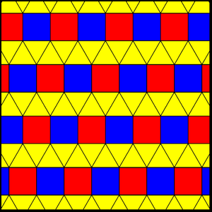 Elongated triangular tiling - Image: Elongated triangular tiling 2