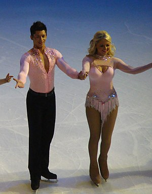 Emily Atack - Emily Atack with Fred Palascak on the Dancing on Ice tour in 2010