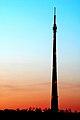 Emley Moor mast at sunset - geograph.org.uk - 497294.jpg