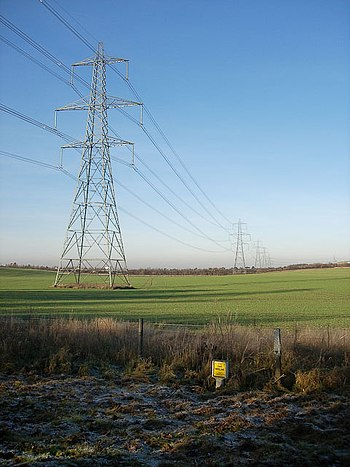 English: Energy infrastructure Electricity cab...