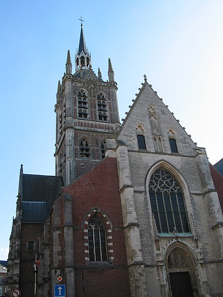 Enghien (Belgium), the St. Nicolas of Smyrne church (XIV/XIXth century).